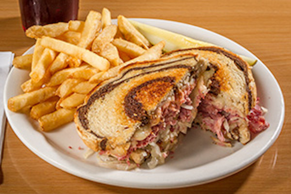 Reuben sandwich and French fries